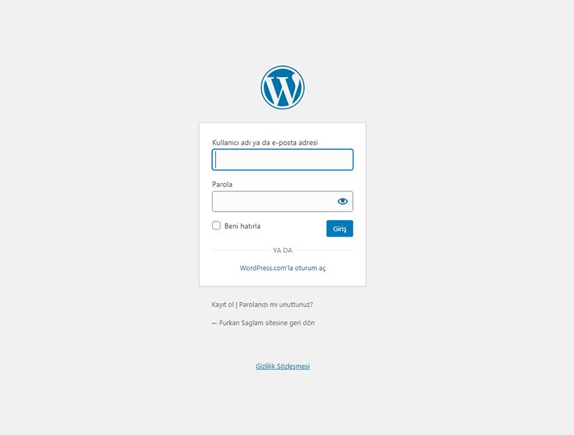 WordPress Giriş URL'nizi Bulma