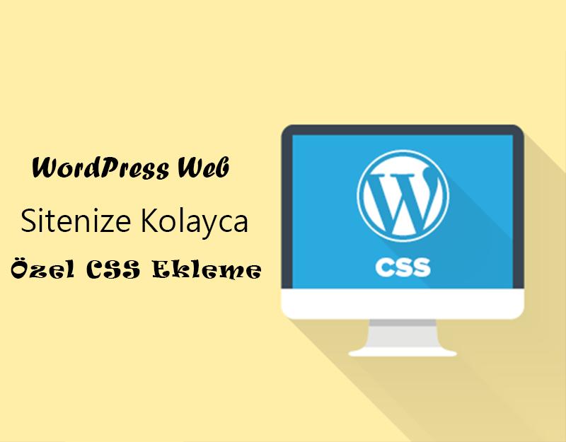 WordPress Sitenize Kolayca Özel CSS Ekleme